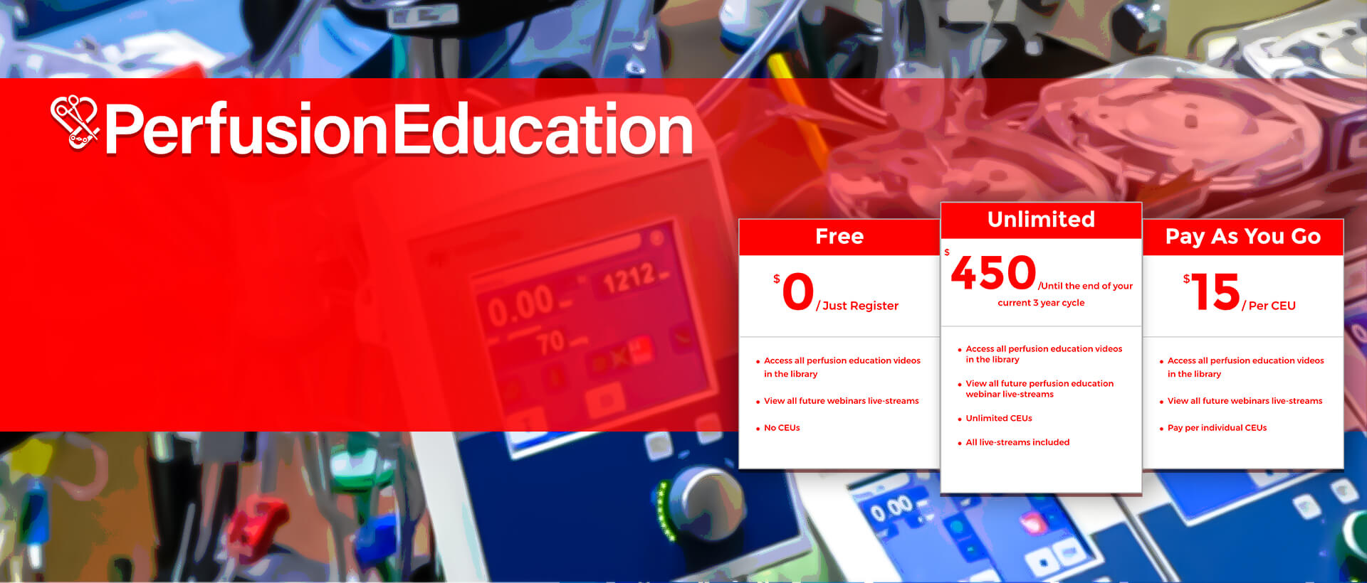 Get Your Category 1 CEU's by the ABCPFree Access to Our Online Perfusion Education Courses